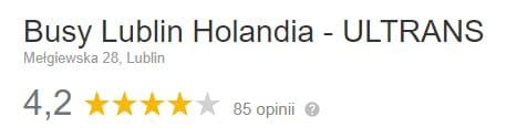 opinie busy Lublin - Holandia Ultrans